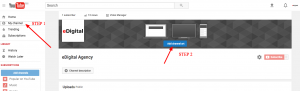 how to add youtube background cover image photo