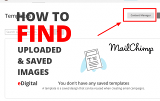 how to find uploaded saved images on mailchimp