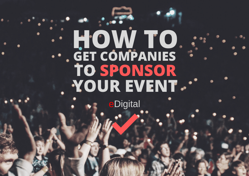 how to get companies to sponsor your event tips