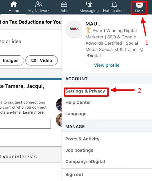 how to make email address private from linkedin connections steps