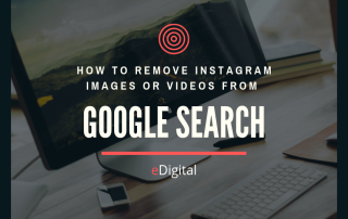 how to remove instagram images videos from google search