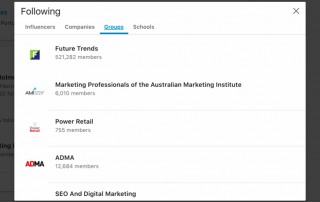 how to see groups you follow on linkedin