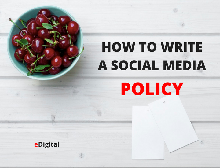 how to write social media policy guidelines template rules employees work