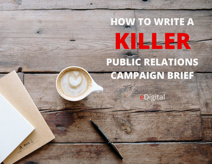 how write killer public relations campaign brief template