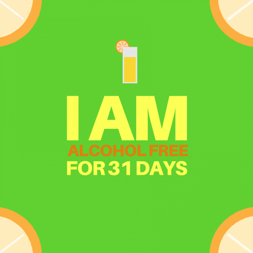 i am alcohol free for 31 days dry january goal announcement goal challenge