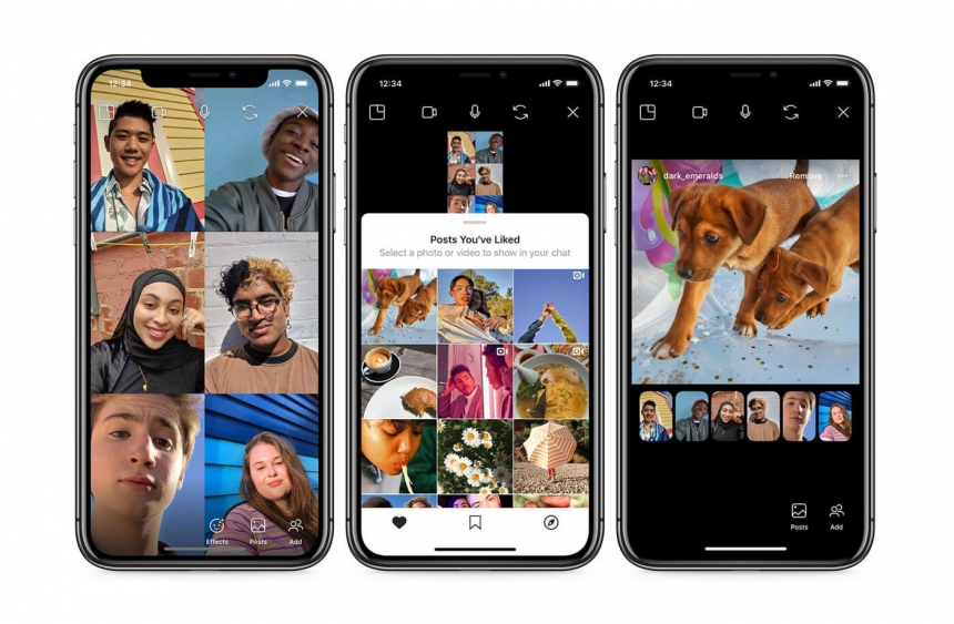 instagram co-watching video chat
