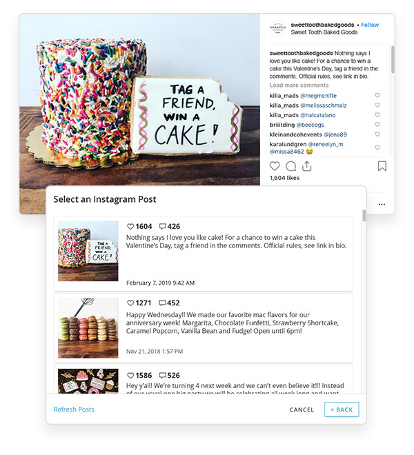 instagram example competition contest cake food