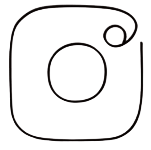 instagram logo one line single drawing black png