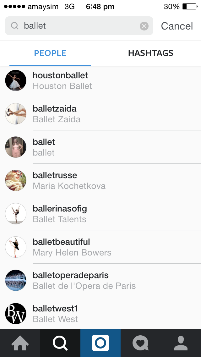 instagram topic search to find influencers ballet