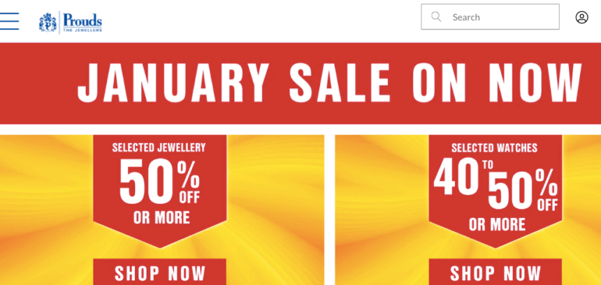 jewelry january sales deals offers prouds