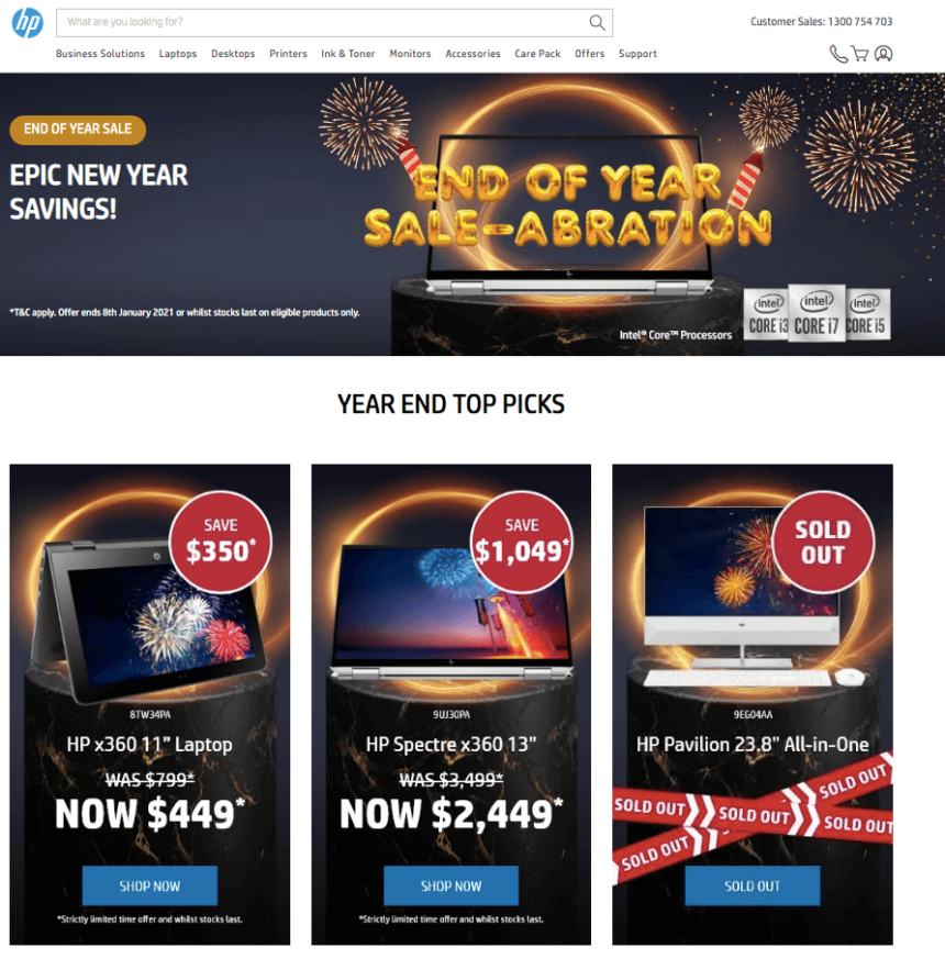 laptop january sales deals offers hp