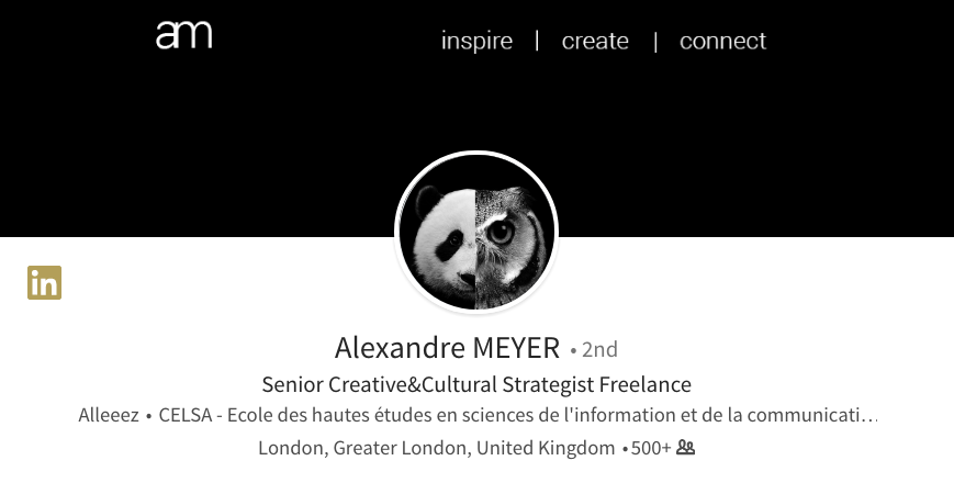 linkedin background photo ideas minimalistic back alexandre meyer creative strategist