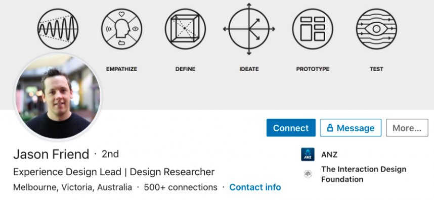 linkedin header image idea example experience designer