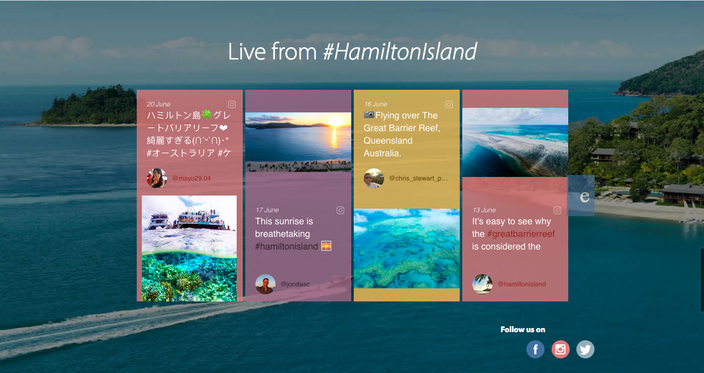live from hamilton island stackla widget