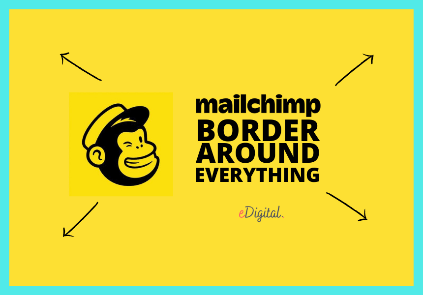 mailchimp border around everything email