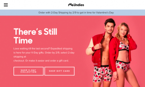 me undies valentines day marketing campaign 2018