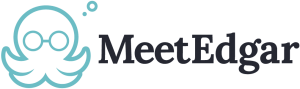 meetedgar logo png social media management tool