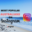 most popular australians on instagram ranking list