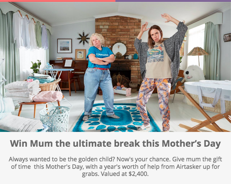 mother's day competition idea example -airtasker
