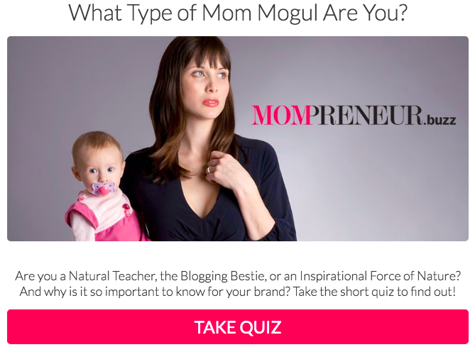 mothers day marketing campaign quiz - interact mompreneur