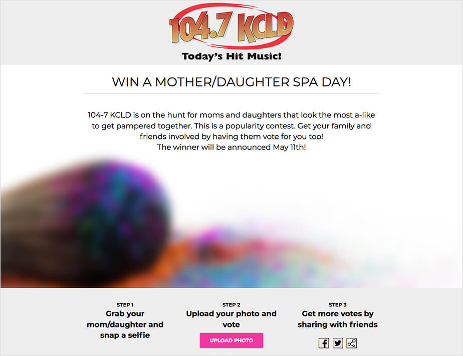 mothers day photo contest 104.7 kcld radio