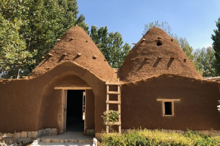 mud brick house bushfire resistant design building bekaa valley lebanon