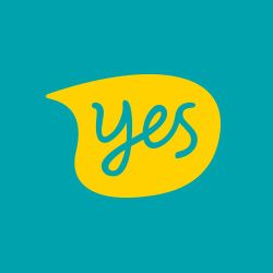 new optus yes logo green yellow text