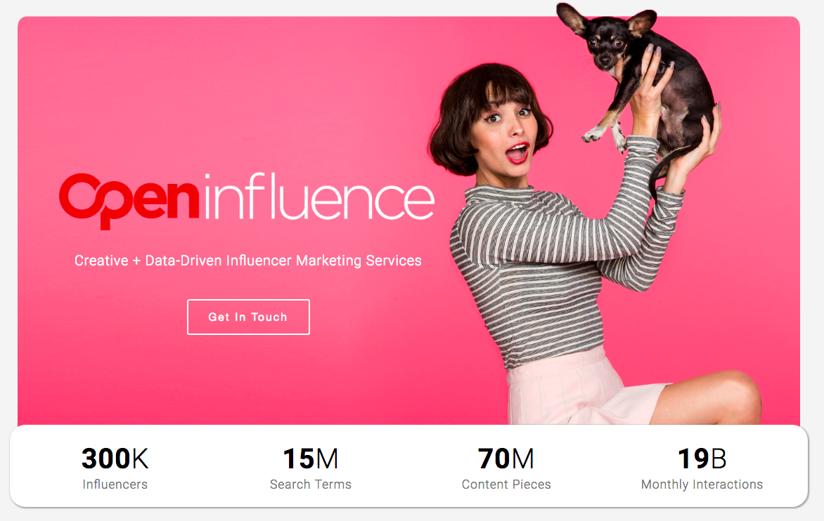 open influence banner