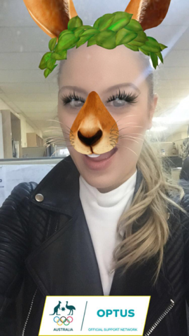 optus geo filter olympic games 2016 kangaroo girl
