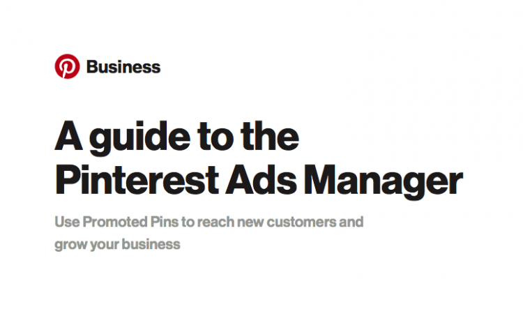 pinterest ads manager guide for business 2015