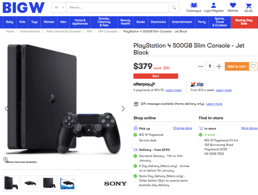 ps4 january sales offers deals bigw