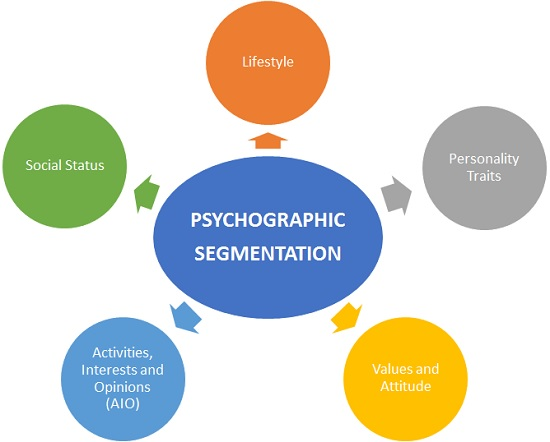 psychographic segmentation graph chart