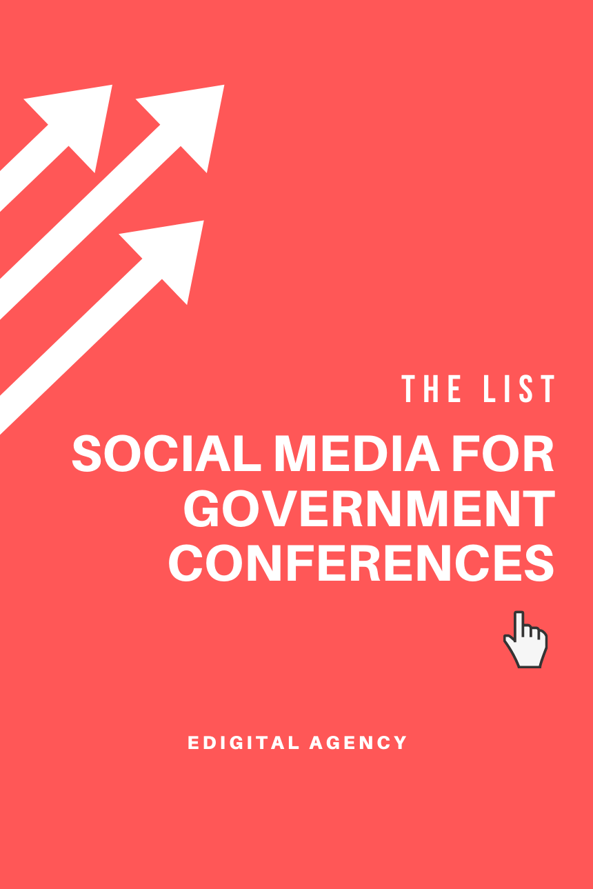 social media for government conferences summits list