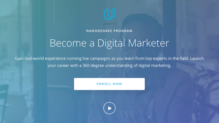 udacity digital marketing nano degree course program