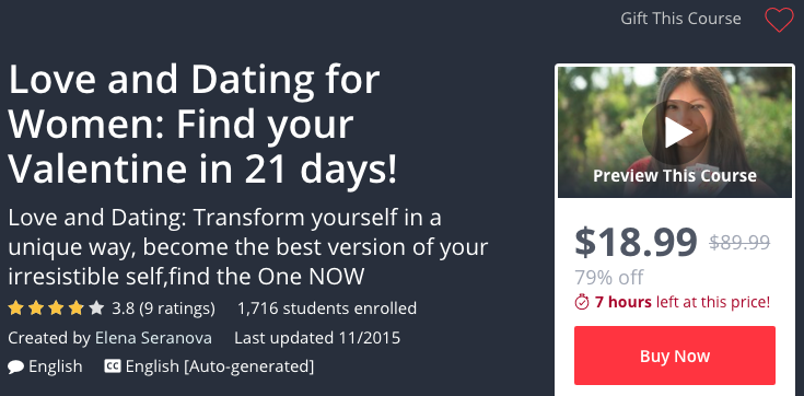 udemy love dating for women find your valentine in 21 days course