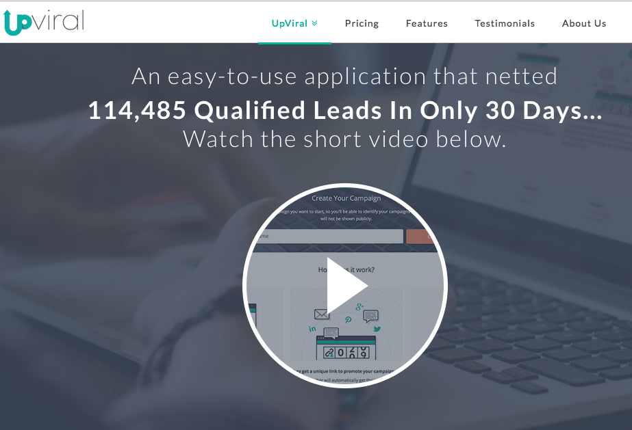 upviral lead generation software tool platform