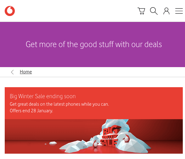 vodafone january sale deals offers