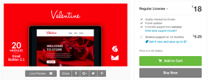 web4pro evanto themeforest valentines day email marketing template