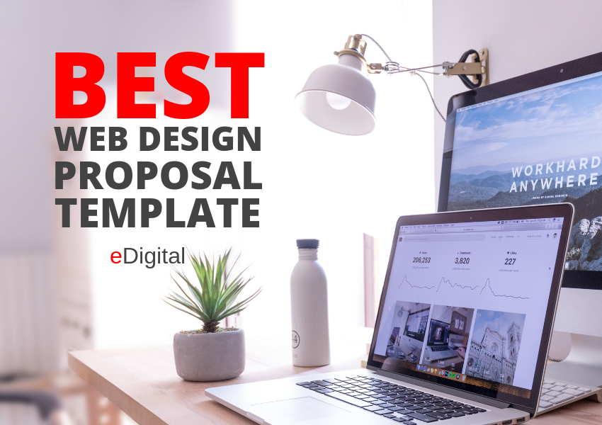 website design proposal template cover