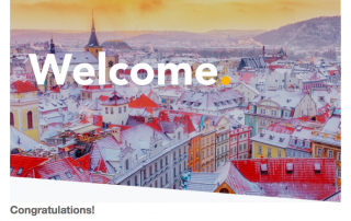welcoming email trip.com new customer travel website