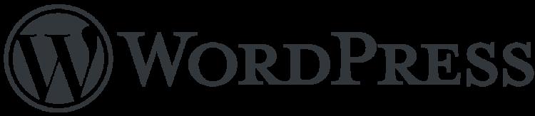 wordpress logo png grey font new latest