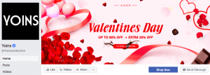 yoins valentines day marketing campaign facebook cover image 2018