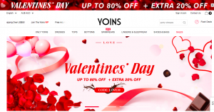 yoins valentines day marketing campaign website hero image 2018